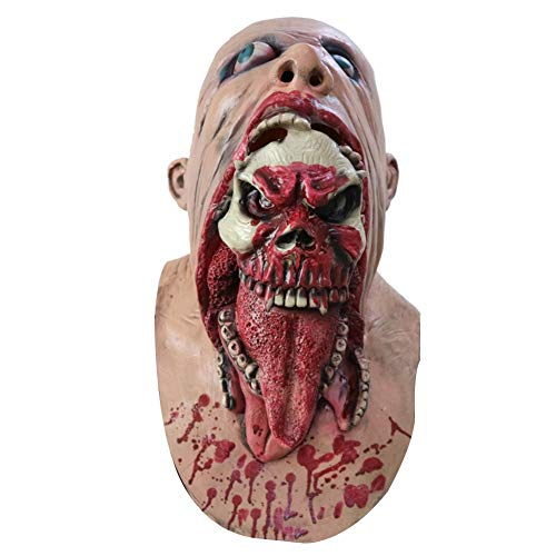 HITSAN INCORPORATION Fashion Scary Horrible Blooding Zombie Mask Cosplay Halloween Costumes Party Prop