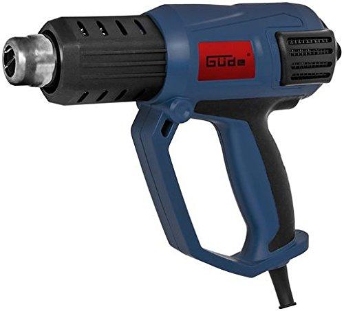 Güde 58121 HLG 650-2000 LCD Heißluftgebläse Heißluftpistole (LED-Temperaturanzeige, 2 stufiges Gebläse 50°C und 50-650°C , 4 Vorsatzdüsen, 2000W)