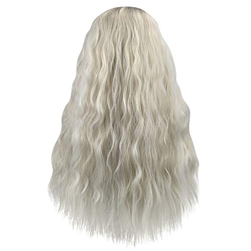 Anney Damen Perücken Neu Perücke Blond Glatt stilvoll Mittler Lang Haar Wigs für Karneval Cosplay Halloween Weiblich - Lange Gerade Layered Perücke
