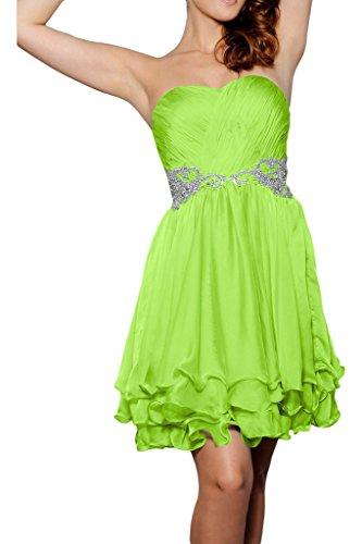 ivyd ressing Donna Sweetheart scollo a cuore breve pietre elegante abito del partito Prom abito Fest vestito abito da sera Verde