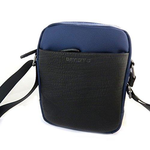 Bolsa de hombro 'Indispensable'azul oscuro (1 compartimento)- 22x16x5.5 cm.