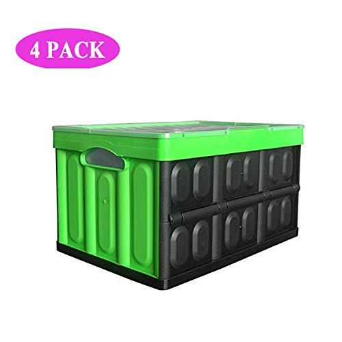 AHTOSKA 4-Pack X 57L Aufbewahrungsbehälter Mit Deckel Körbe & Behälter Behälter Mit Deckel,Transparent 53 L X 30 W X 36 H(cm) (Kunststoff-lebensmittel-lagerung-kisten)
