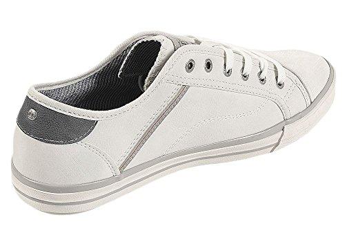 Mustang Herren Sneaker Grau Weiß (Offwhite)