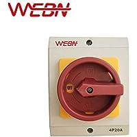 OKP Series 20A interruptor de aislamiento rotatorio resistente a la intemperie OKP-20A/4 P con caja de protección función de corte de encendido y apagado