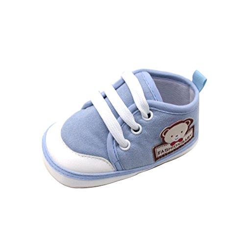 Chaussures Bébé Binggong Chaussures Nouveau-né bébé Filles et garçons Doux Chaussures Solides Ours Lettre Impression Chaussures Chaussures Bebe en Cuir Souple Chaussons Bebe Filles Garcons