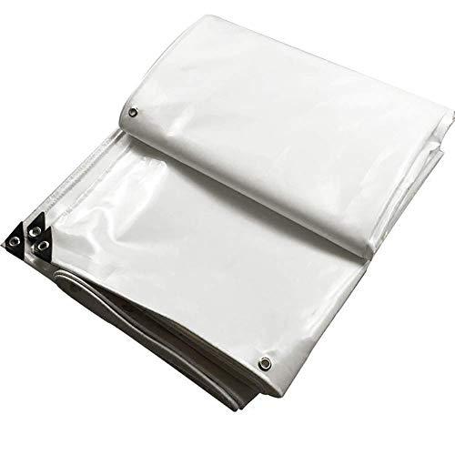Preisvergleich Produktbild YINUO Dicke Plane UV-Schutz Regen Plane Push-Pull-Canvas Wasserdichte Sonnencreme PVC Messer Kratztuch Carport Tuch Weiß (Size : 4.8x4.8m)