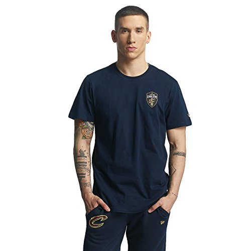 New Era, Uomo, Tip Off Chest N Back Tee Cleveland Cavaliers, Cotone, T-Shirt, Blu Blue