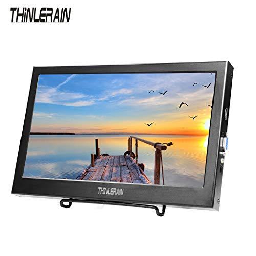 Thinlerain monitor portátil VGA HDMI de 11.6 pulgadas con pantalla LED es un monitor para juegos con resolución HD de aluminio.  La pantalla viene con equipos industriales y pantallas de audio y video de entretenimiento para el hogar para jugadores o...