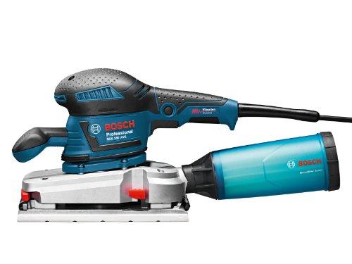 Bosch Professional GSS 280 AVE Schwingschleifer, Schleiffäche: 257,64 qcm, 350-W-Motor, Microfilter Box, Karton, 1 Stück, 0601292902