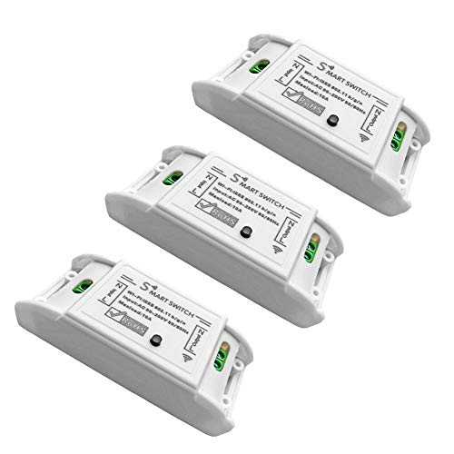 SHUAISHUAI WiFi-Schalter Smart-Schalter, 3-Pack WLAN Schalter Smart Switch Intelligenter Schalter Smart Home Switch Mit Timer DIY Funkschalter,Kompatibel Mit Alexa, Google Home Und IFTTT -