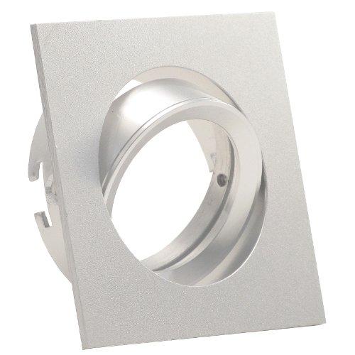 Decken Einbauleuchte CANTO; 230V (auch als 12V); quadratisch eckig; schwenkbar; OHNE Leuchtmittel; Aluminium; Einbaustrahler Einbauspot