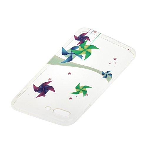 Etsue custodia per iPhone 7 Plus TPU case cover custodia in silicone caso di gomma flessibile morbido silicone paraurti soft gel slim fit ultra sottile misura flessibile liscia caso anti scratch trasp *23