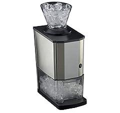 Idea Regalo - RGV Mojito Junior - Spaccaghiaccio elettrico, 80 Watt, c.a. 20 kg/h, Acciaio Inox