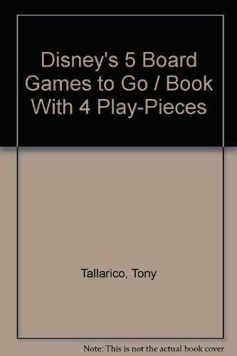 Disney's 5 Board Games to Go / Book With 4 Play-Pieces