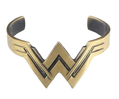 EVRYLON Armband Rigido Super Woman Mädchen Accessoire Karneval Halloween Cosplay Schönes Geschenk Farbe Bronze