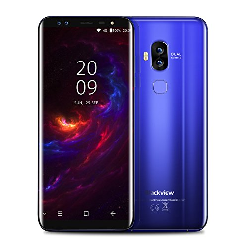 "Blackview S8-5,7"" 4G FDD-LTE Smartphone, 18:9 Infinity Display, Android 7.0 Octa Core 4GB+64GB, 4 Sony Kamera 13MP+13MP, Fingerabdruck-Scanner, 3180mAh Schnellladefunktion, Dual SIM, Entsperrt Handy"
