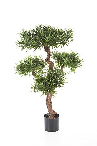 Set 2 x Deko-Podocarpus TITUS, 4410 Blätter, grün, 110 cm – Baum künstlich / Podocarpus künstlich – artplants