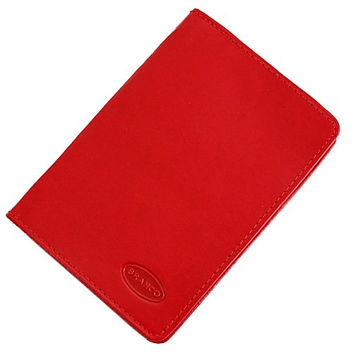 Branco Leder Ausweisetui Ausweismappe Ausweishülle 8,5x12x1,5cm GB (Rot)