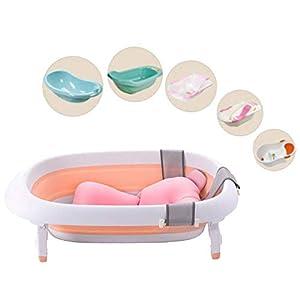 KOBWA Baby Bath Tub Pillow, Newborn Baby Anti-Slip Bath Cushion, Bathroom Safety Seat Pad, Boys Girls Unisex (0-12 Month)