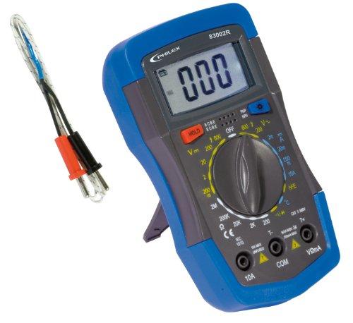 Philex 83002R Digitaler Multimeter CAT III 10A/600V mit Temperaturmessung