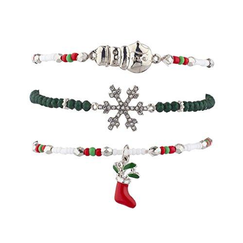 Ton Weihnachten Urlaub Arm Candy Armband Set 3 (Billige Bulk Candy)
