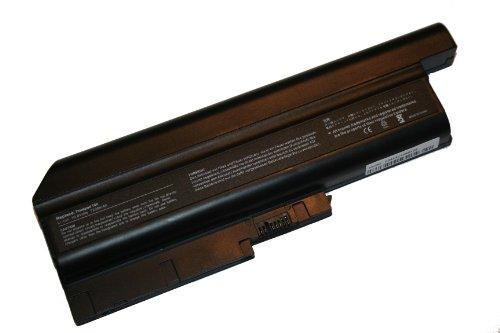 Batterie LI-ION 6600 mAh 10.8 V en noir compatible pour IBM ThinkPad R60 9459, R60 9460 etc. remplace 40Y6799, ASM 92P1138, ASM 92P1140, FRU 92P1137 etc