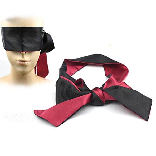 LUOEM Venda de ojo con ojos vendados máscara de cegadora máscara de dormir máscaras traje para adultos amantes de las parejas regalo de San Valentín