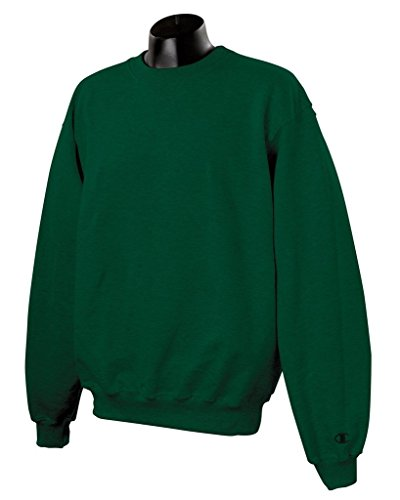 Champion Mens Cotton Max Crew - - Team Dark Green