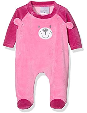 Twins Baby-Mädchen Schlafstrampler aus Velours Teddybär