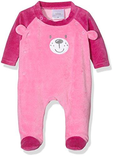 Twin 17 (Twins Baby-Mädchen Schlafstrampler aus Velours Teddybär, Mehrfarbig (mehrfarbig 3200), 12-18 Monate (Herstellergröße: 86))