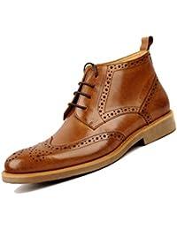 cdb0e2435f High Bang Derby Zapatos De Cuero con Corte para Hombre Martin Boots Bullock  Booties Botas De Negocios Transpirable Piel Suave En…
