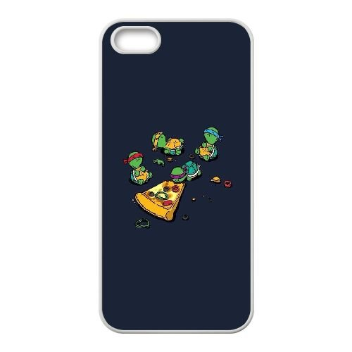 Turtle eats pizza iPhone 5,iPhone 5s Cover, Sabcase Turtle eats pizza Custom Phone Case for iPhone 5,iPhone 5s (Iphone Phone 5 Pizza Case)
