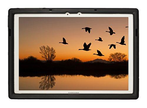 Custodia robusta BOBJ per Samsung Galaxy TabPro S 12 (SM-W700) - BobjGear protezione Tablet caso (Nero)