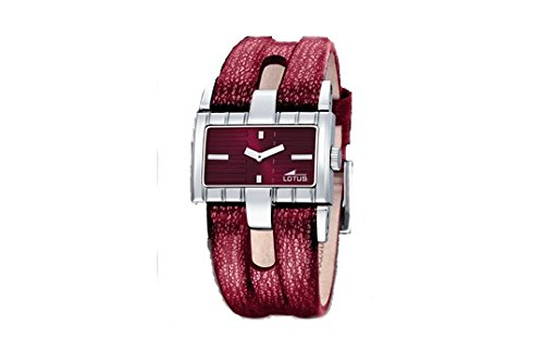 Watch LOTUS Women's Leather And Dial 32x 20mm Bordeaux W.R. 3ATM