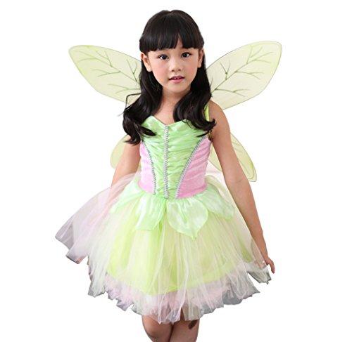 D'amelie Prinzessin Kostüm Kinder Glanz Kleid Mädchen Weihnachten Verkleidung Karneval Rollenspiele Party Halloween - D'halloween Mania-kostüm Party