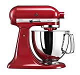 KitchenAid 5KSM125BVER Artisan Stand Food Mixer 300W Empire Red Veggie Bundle (Renewed)