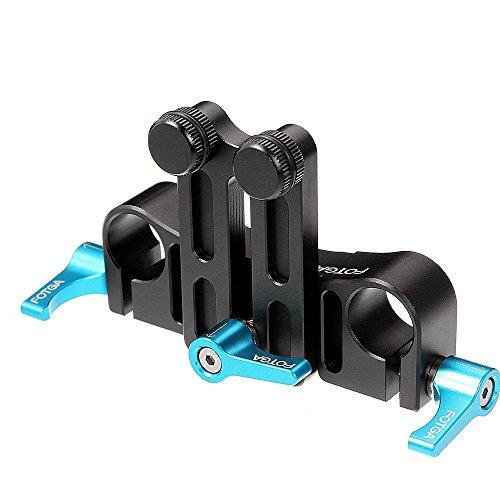 Fotga DP500 Schiene III Universal Lens Support mit 15 mm Schiene Rod Clamp Halterung für Follow Focus DSLR-Kameras Camcorder 15 Mm Rod Support