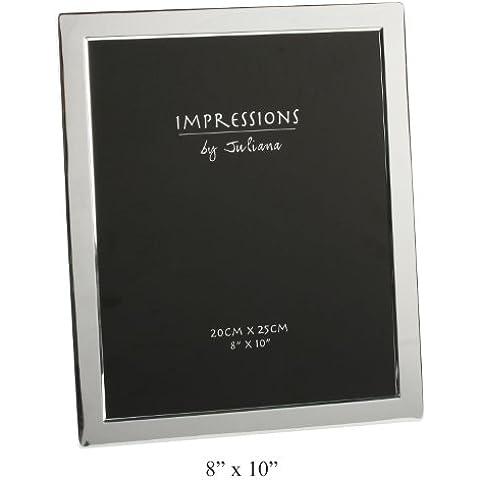 Impressions - Marco para fotos (20 x 25 cm, bañado en plata)