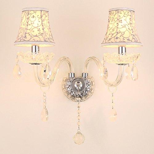 SKC Lighting-Applique murale Lampe murale en cristal européen Chambre à coucher Salon de la lumière murale de fond (taille : Double head)