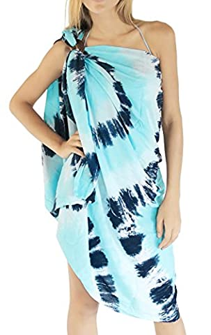 La Leela Soft Rayon Spherical Tie Dye Beach Skirt Cover up 78X43Inch Turquoise Gift Spring Summer