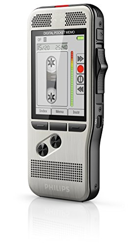 Best Price Philips DPM7200 Digital dictaphone, voice recorder, 2mic stereo recording, slide switch operation, large high-res backlight color display, Classic mode, stainless steel, Li-Ion battery, anthracite Online