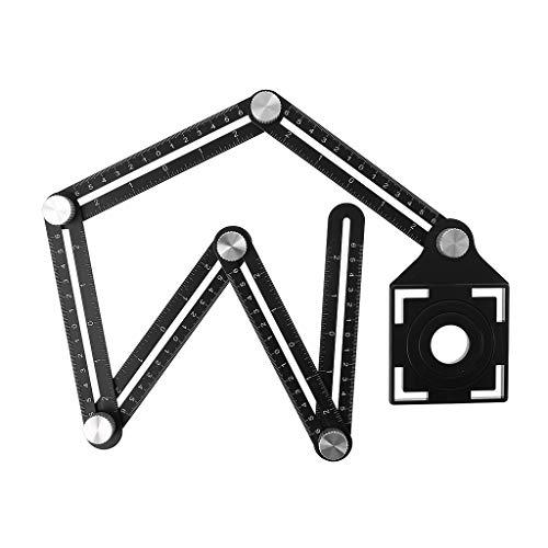 Cansenty - Regla plegable 6 agujeros azulejos, regla