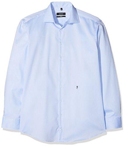 Seidensticker Herren Business Hemd Comfort Fit - Bügelfreies Hemd mit Kent-Kragen und bequemem Schnitt - Langarm - 100{55b3f56ae5b5c66f840e8b073906ab0e976a695328b5725c71807e1ba91c9f85} Baumwolle, Blau (Blau 12), 47 CM
