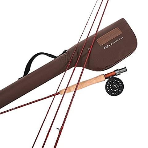 Fly Fishing Rod and Reel Combo Kit :Super Lightweight Fly Fishing Pole and Reel,Line Weight 5/6#