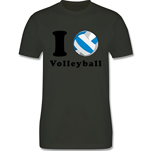 Volleyball - I Love Volleyball - Herren Premium T-Shirt Army Grün