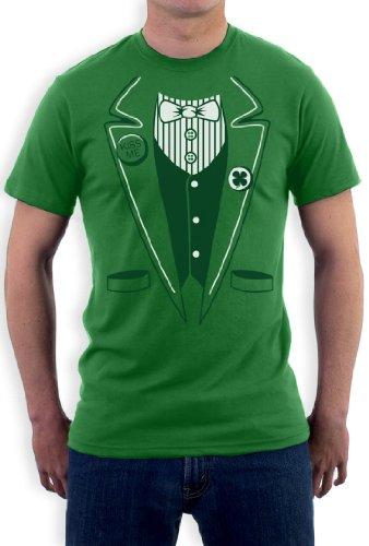 St.Patty Day Irish Tuxedo Grün Medium T-Shirt -