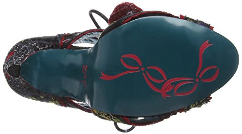Poetic Licence by Irregular Choice Tease, Sandales Bout Ouvert Femme Black (Black Multi)