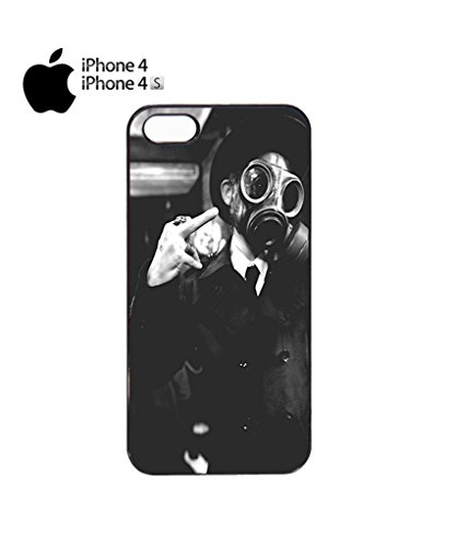 Gas Mask Riot Finger Rude Attitude Mobile Cell Phone Case Cover iPhone 5c Black Noir