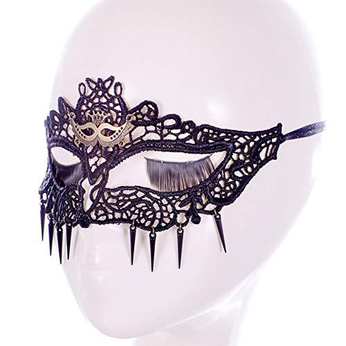 Carry stone Schwarz Vintage Maske Partei Gesichtsmaske für Halloween Maskerade Frauen Spitzen Maske langlebig und praktisch