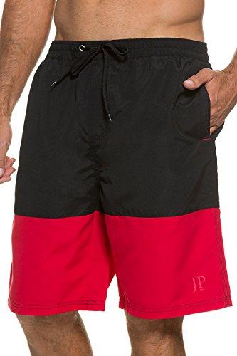 jp1880-homme-grandes-tailles-short-de-bain-noir-rouge-5xl-705617-10-5xl